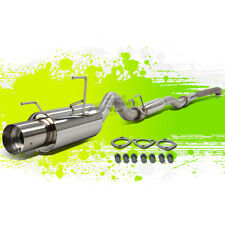 "ACURA RSX BASE/L 2.0L STAINLESS STEEL CATBACK EXHAUST SYSTEM 4.0"" MUFFLER TIP"