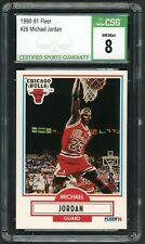 1990-91 Fleer #26 Michael Jordan Graded CSG 8 NM-MT ~ Chicago Bulls HOF