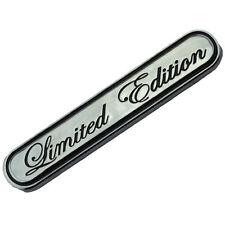 CHROME/BLACK LIMITED EDITION ENGINE RACE MOTOR SWAP BADGE FOR TRUNK HOOD DOOR