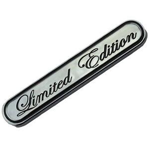 CHROME/BLACK LIMITED EDITION ENGINE RACE MOTOR SWAP BADGE FOR TRUNK HOOD DOOR