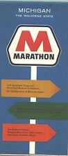 1964 Marathon Michigan Vintage Road Map