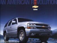 2005 Chevrolet Chevy Tahoe Sales Brochure Book
