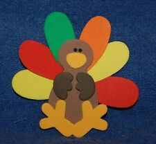 Cute Thanksgiving Turkey, Foam Refrigerator Magnet, Made in the USA