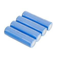4pcs 18650 3.7V 5000mah Li-ion Netural Rechargeable Battery Blue for LED Torch