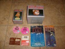 Star Wars Vintage Ewok 2 Htf Plush Tags & Sigma Figure & Cup Shampoo Box Cards