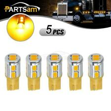 5xHigh Power Cab Marker Roof Lights 194 T10 10-5730-SMD Amber LED Bulbs for Ford