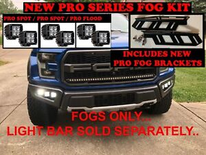 2017-2020 Ford F-150 Raptor LED PRO Fog light Kit Rigid 17 18 19 2019 lights