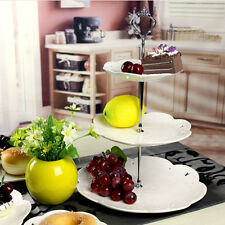 Crown 3 Tier Cake Cupcake Plate Stand Handle Fitting Hardware Home Party Decor