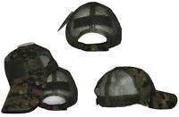 Woodland Camo Marpat Operator Operators MESH Cap Hat Patch adjustable strap RUF