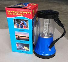 Led Lantern Light Solar Camping Outdoor Lamp Portable 12+1 LEDs car & USB charge
