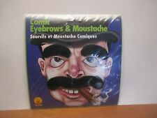 GROUCHO MARX COMIC EYEBROWS & MOUSTACHE Joke Costume Black Fake Mustache