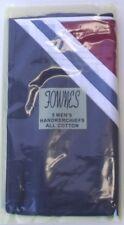 5 X Mens Handkerchiefs Hankies 100% cotton 3 Colour & 2 White reusable washable