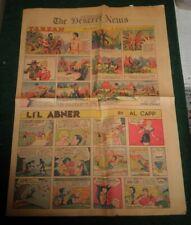 Dec. 1939 Sunday Comics From The Deseret News Tarzan, L'il Abner, Nancy Plus