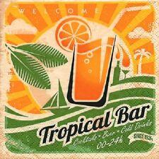 "20 Servietten""Tropical Bar""Drink*Palmen*Sonne*Cocktails*Cold Drinks*Retro*25x25"