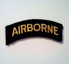 Airborne Tab Sewn on Gold on Black
