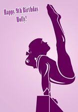 Gymnastics Birthday A5 Card Personalised Daughter Granddaughter Friend Exam Sis