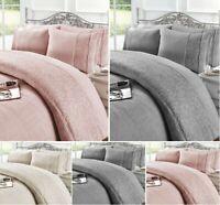 Luxury GRACE Embroider Lace TEDDY BEAR FLEECE  Duvet Cover+PillowCase  Warm Cozy