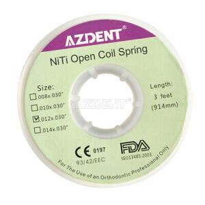 AZDENT Orthodontic Niti Open Coil Springs Dental Dia.012inch .012 x.030'' 3 Feet