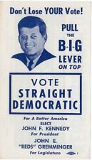 1960 John F Kennedy Pull The Big Lever Campaign Flyer