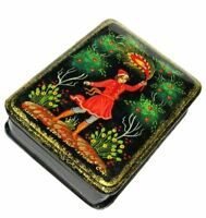 """Lacquer box style /""""Russian ballet/"""" dancing Decoupage Hand painting B18"""