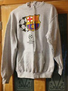 FC Barcelona Grey Hoodie pullover Medium Hoody Training