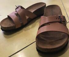 EU 36 leather open sandals Italy SUPERGA US 6 walking shoes