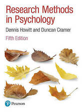 Research Methods in Psychology by Duncan Cramer, Dennis Howitt (Paperback, 2016)