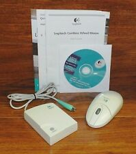 Vintage Compaq Logitech (C-RC3-MSE) Wireless Wheel Mouse & PS/2 Receiver *READ*