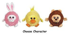 Silly Shaggies Soft Plush Ball Shaped Dog Toys - Choose Bear Duck Bunny Or All 3