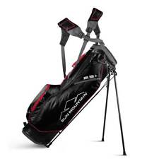 New 2019 Sun Mountain 2.5+ Golf Stand Bag (Black / Red / Gunmetal) - CLOSEOUT