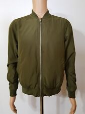 Topman Olive Green Zippered Jacket Size Small