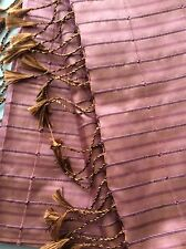 STUNNING!! Pure Shot Silk Large Shawl Scarf Pashmina East Indian Artistic   £59