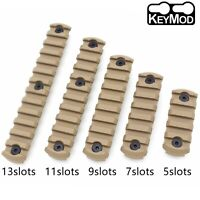 5/7/9/11/13 Slots Keymod Rail Section Picatinny/Weaver Segment Mount Tan color