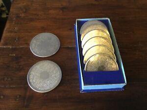 Strachan Made in Australia Silver Ornate Tumbler Coasters X8
