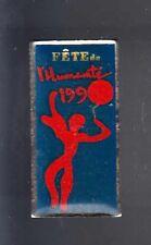RARE PINS PIN'S .. POLITIQUE ART PC PCF PARTI COMMUNISTE FETE HUMANITE 1990 ~BD