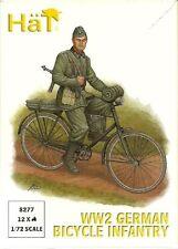 HAT 8277 WW2 GERMAN BICYCLE INFANTRY - 1:72 SCALE Figures Kit/Wargaming