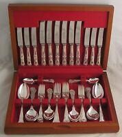KINGS Design WEBBER & HILL Sheffield Silver Service 44 Piece Canteen of Cutlery
