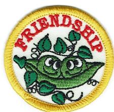 Girl Boy Cub FRIENDSHIP Peas Fun Patches Crest Badge SCOUT GUIDE Pals Friends