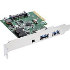 InLine PCI Express Card x4, 2x USB 3.1, 2x Tipo A esterno o 1x 19pin INTERNO