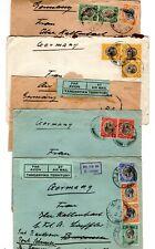1931-33 Tanganyika to Germany Covers x 5 / Lupembe.