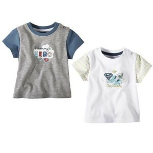 Baby-T-Shirts in 2 coolen Styles Superbaby & Mommy's Hero OVP + NEU 7,99€!