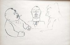 Lithography original - George Grosz - Ecce Homo - Bassere Leute - 1923