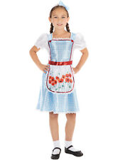 Girls Dorothy Costume Childs Fairytale Character Fancy Dress Book Day Outfit