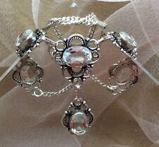Fine Estate Crystal Quartz & Sterling Silver  Statement Necklace
