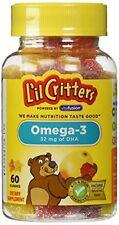 L'il Critters Omega-3 DHA 60 Gummies Each
