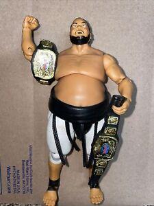 WWE Mattel Elite Action Figure Yokozuna Hall Of Fame Series Mint Rare