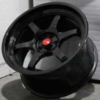 18x9.5 Gloss Black Wheels Aodhan AH08 AH8 5x114.3 30 (Set of 4)