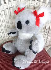 Build-A-Bear RETIRED GRAY KUDDLY KOALA w RED BOWS Stuffed Plush Animal