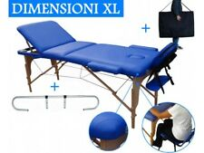 TABLE DE MASSAGE 3 ZONES BLEU + PORTE ROULEAU COSMETIQUE LIT ESTHETIQUE PLIANTE