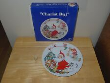 1973 Goebel Christmas Collector Plate by Charlot Byj 1st Ed Santa Tree Kids Toys